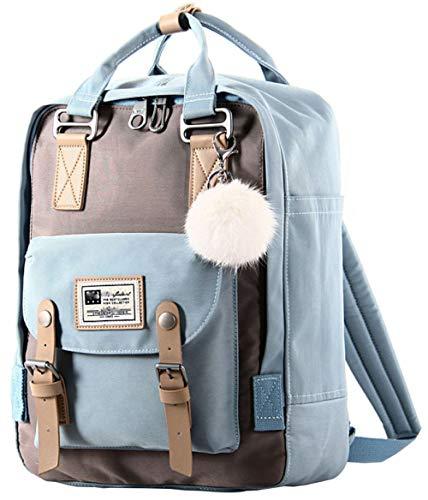 La black Del Viaje Negocio De Impermeable Estudiante Lona Bolsa Blue Moda Computadora ITqwAvEcx