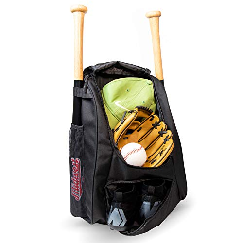 (ANGU SPORTS Youth Baseball Bag | Baseball Backpack for Baseball, TBall & Softball Equipment & Gear | Holds Bat, Helmet, Glove, Cleats, Ball | Fence Hook & Lots of Room for Little League Baseball Gear)