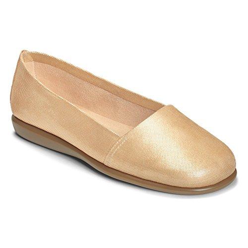 Aerosoles Damen Mr Softee Slip-On Loafer Gold Schlange