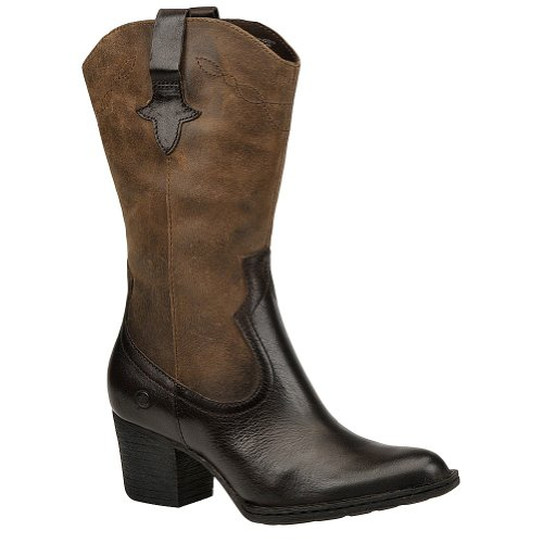 Women's Born, Sonoma Western style Boot EBONY/ANTRACITE 8.5 M by Born