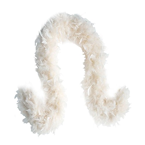 SACAS Fashion 100g Feather Chandelle Boa 6 feet long in White for $<!--$9.98-->