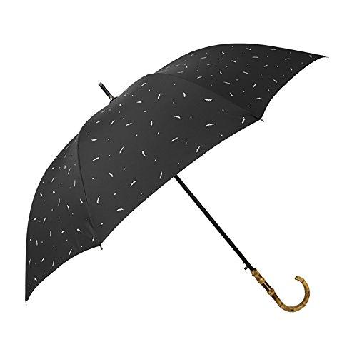 Vintage Long Handle Umbrella Self-opening Bamboo Handle British Style Stick Umbrella Man Women (Color : A)
