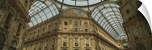 Canvas On Demand Wall Peel Wall Art Print entitled Interiors of a shopping mall, Galleria Vittorio Emanuele II, Milan, Lombardy, Italy - Shopping National Place Mall