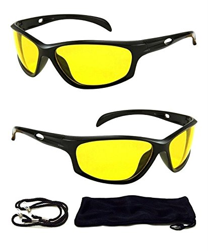 HD Aviator Sunglasses Driver Night Vision Driving Glasses Yellow Lens Anti - 3 Ansi Z80
