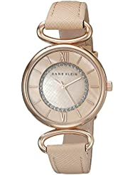 Anne Klein Womens AK/2192RGLP Glitter-Accented Rose Gold-Tone and Blush Pink Strap Watch