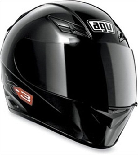 AGV K3 Full Face Motorcycle Helmet (Matte Black, Large)