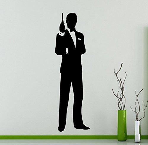 James Bond Wall Decal Movie Agent 007 Vinyl Sticker Home Interior Film Art Decor Ideas Bedroom Living Room Office Removable Housewares 6 Bon Buy Online In Albania At Albania Desertcart Com Productid 47150108