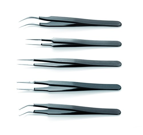 ESD Epoxy Coated Tweezers Kit Of 4 by IDEAL-TEK AA ANTI HI TECH