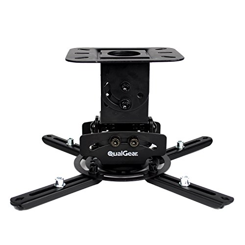 QualGear PRB-717-BLK Universal Ceiling Mount Projector Accessory - Mustang Ceiling Mounts