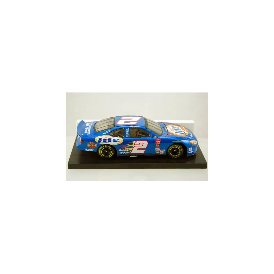 Action   2000   NASCAR   Rusty Wallace   Miller Lite   Ford Racing   Harley Davidson Motorcycles Paint   124 Scale Stock Car   Limited Edition   Collectible