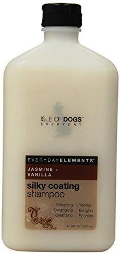 Everyday Isle of Dogs Silky Coating Dog Shampoo for Yorkies,Beagles and Spaniels (16.9 oz/Jasmine and Vanilla)