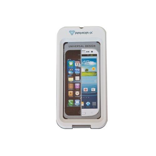 Armor-X wasserdichtes & stoßfestes Gehäuse mit Saugnapfhalterung für iPhone 5 und Samsung Galaxy S 3, mit Kopfhöreranschluss (Farbe: weiss)
