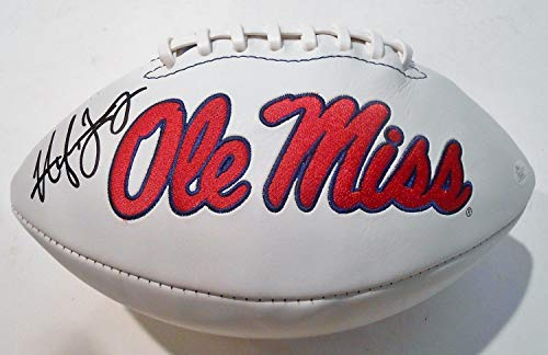 Hugh Freeze Autographed Signed Ole Miss Rebels Logo Football W/JSA Authentic P26640