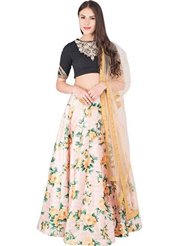 Shopaholic Women's Bangi Silk Lehenga Choli Free Size Pink
