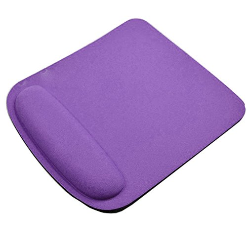 yunbox299 Mice Mouse Cushion Computer Accessories,yunbox209 Anti Slip Soft Wrist Support Game Mouse Mat Square Pad for Computer PC Laptop Purple