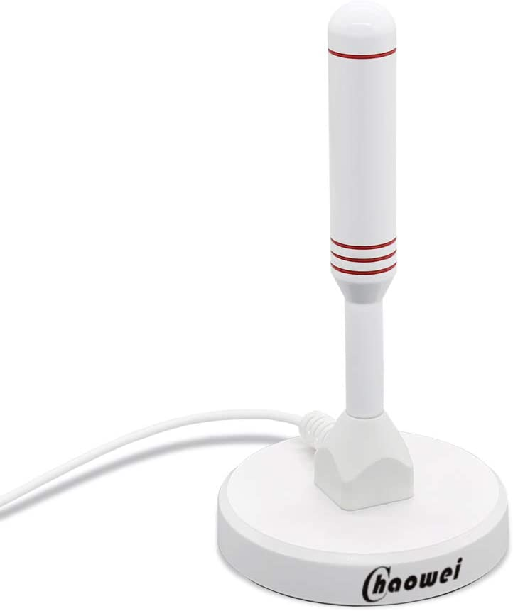 DVB66 Antena de TV Digital portátil para Interiores y Exteriores con Base magnética, Cable coaxial de 6.5 pies, Antena de TV pequeña para sintonizador ...