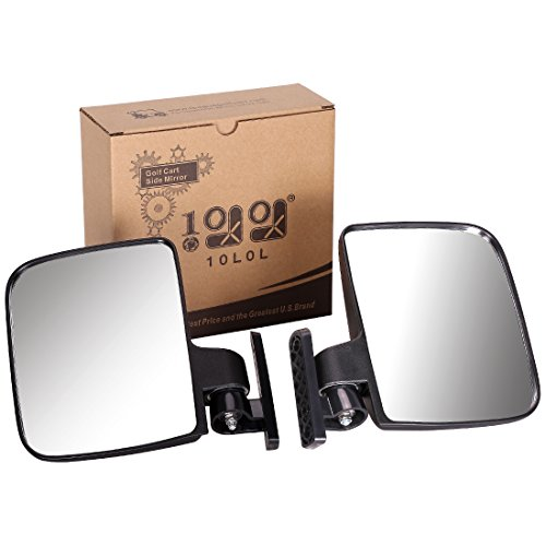 10L0L Golf cart Generic Side Mirrors of EZGO Club Car Yamaha and Others (One Pair for Sale)