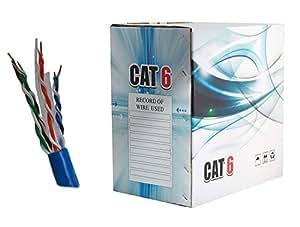 Cat6 Ethernet Cable 1000ft UTP Bulk Pull Box (BLUE) - WireShopper