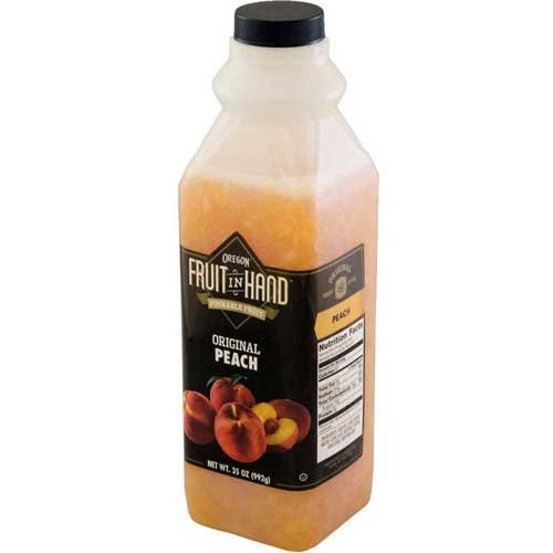 Fruit In Hand Peach Pourable Fruit Puree, 35 Ounce - 6 per case. by Oregon