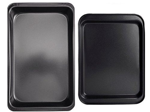 Oven Lovin' Bakeware 2-Piece Nonstick Pan Set Non Stick Coating, Durable Carbon Steel, Pizza Tray, Cake Pans, Cookie Sheet, Muffins by ()