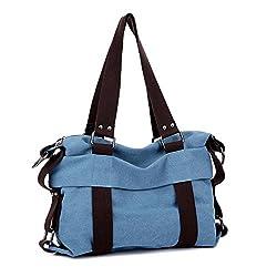 Top Shop Womens Travel Canvas Shoulder Handbags Casual Tote Hobos Messenger Blue Bags