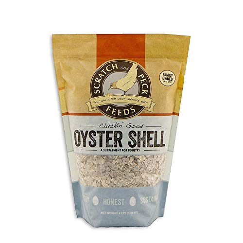 - Scratch and Peck Feeds - Cluckin' Good Oyster Shell Supplement for Chickens and Ducks - Flaked - 4-lbs