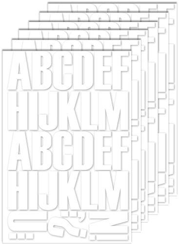 White Letter Transfer 2 Inch Sheets