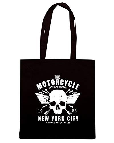 A SKULL Shopper Borsa RIDE Nera MOTORCYCLE CLASSIC TB0420 AztwAXdx