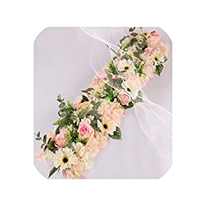 Wedding Flower Decor for Iron Arch Artificial Flower Arrangement Supplies Road Lead Cited Flower Row Window T Station 2