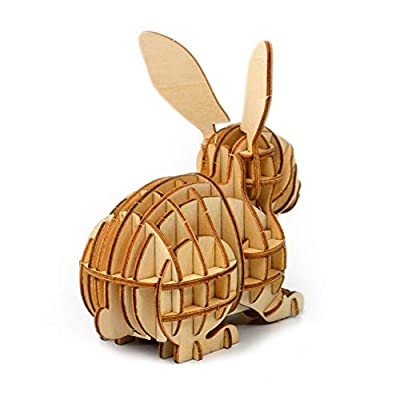 3D Wooden Puzzle Toys for Kids Adults Wooden Animal Rabbit Model Puzzle, Mechanical Puzzles Jigsaw Puzzle Toys Model Kits Assemble Puzzle Educational Toys Gifts for Kids Adults Boys Girls: Toys & Games