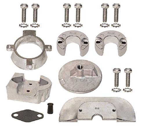 GLM Aluminum Anode Kit for Mercruiser Sterndrive Alpha One Generation II Replaces 888756Q03