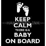 Keep Calm Baby on Board Die Cut Vinyl Car Decal Wall Sticker