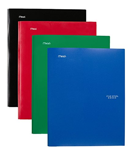 """043100340300 - Five Star Pocket Folder, 2 Pocket Stay-Put Plastic Folder, 11-5/8"""" x 9-5/16"""", Color Selected For You May Vary (34030) carousel main 5"""