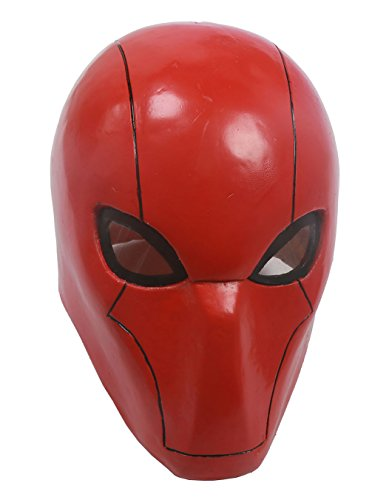 XCOSER UTRH Mask Helmet Red Hood Mask for Movie cosplay Adult Red]()