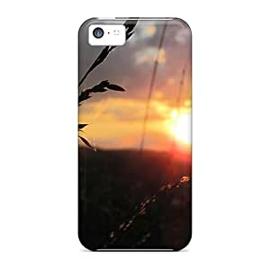Durable Cases For The Iphone 5c- Eco-friendly Retail Packaging(rainbow Sunset)
