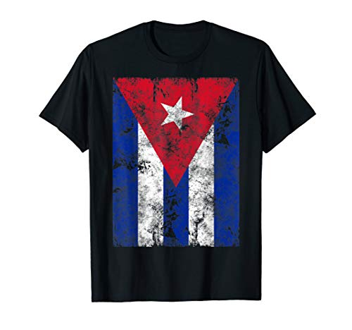 Cuba Flag Tee Shirt Distressed Cuban Flag T-Shirt Gift
