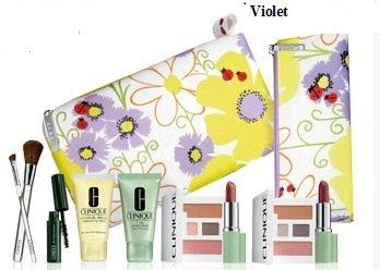 Clinique de 2013 New Macy (violettes) 8 Pcs printemps Soins de la peau et maquillage Gift Set (A 65 $ valorisées)