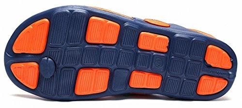 Ben Sports Thong Flip Flops Zehentrenner Strandlatschen Herren,40-48 Weiß B - Orange