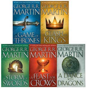 Game of Thrones Collection George R.R. Martin 6 Books Set (A Dance With Dragons, A Feast for Crows, A Storm of Swords: Blood and Gold: Part 2,A Game of Thrones.. (George Rr Martin Original Game Of Thrones)