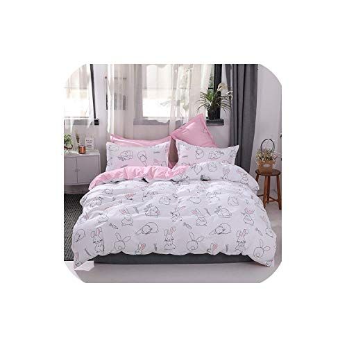 LOVE-JING Green Lemon Winter Bedding Sets Full King Twin Queen King Size 4Pcs Bed Sheet Duvet Cover Set Pillowcase Without Comforter,B29,Full Cover 150By200,Flat Bed - 4 Crib Piece Coco Bedding
