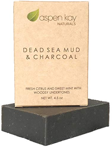 Dead Sea Mud Soap Bar Natural & Organic Ingredients. With Activated Charcoal & Therapeutic Grade Essential Oils. Face Soap or Body Soap. For Men, Women & Teens. Chemical Free. 4oz Bar.