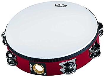 Remo TA-5210-70 Fiberskyn Tambourine - Quadura Black, 10 10
