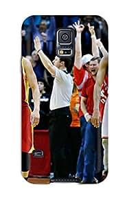 Cute Appearance Cover/tpu YGkxQMg21585tGPdC Houston Rockets Basketball Nba (7) Case For Galaxy S5