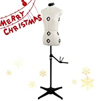 13 Dials Mannequin Dress Form with Tri-Pod Stand, Adjustable Pinnable Female Torso Body for Sewing, Dressmakers Up to 69 Inch Shoulder Height