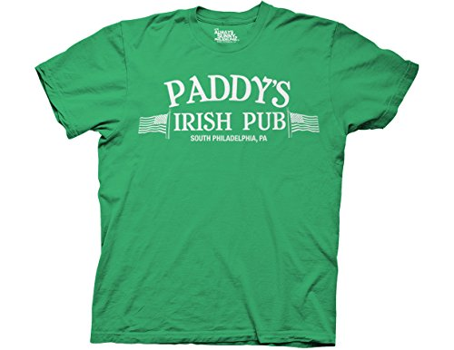It's Always Sunny in Philadelphia Paddy's Irish Pub Men's T-Shirt,(Green/Large) ()
