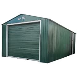 Duramax 55161 Metal Garage Shed with Side Door, 12 by 26-Inch