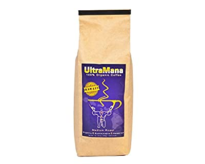 Organic Coffee, Medium Roast Whole Bean Coffee Hawaiian Blend 100% Organic from UltraMana Coffee