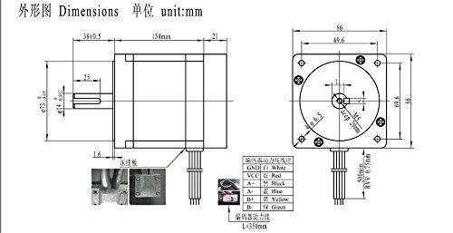 nema34 12n m closed loop hybrid servo motor stepper motor 154mm 6a 2 phase  u0026 hss86 servo driver