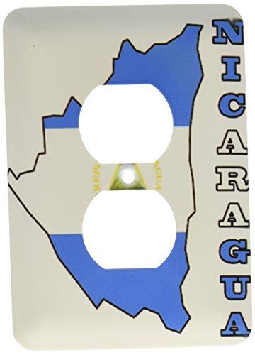 3dRose Lsp_55486_6 - Carcasa para 2 enchufes, diseño de la bandera de Nicaragua