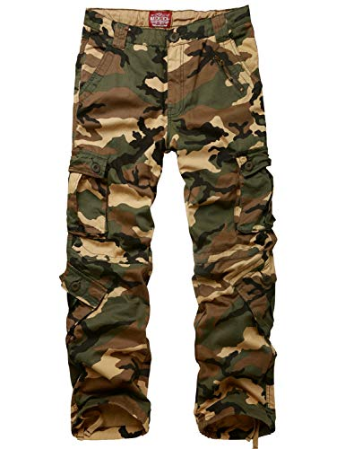 Match Men's Wild Cargo Pants(29,Camouflage) ()
